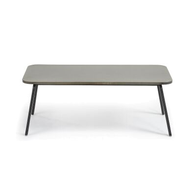 Liosia Poly Cement & Steel Coffee Table, 110cm