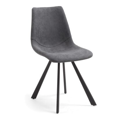 Orsted PU Leather Dining Chair, Graphite