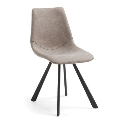 Orsted PU Leather Dining Chair, Taupe