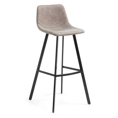 Orsted PU Leather Counter Stool, Taupe