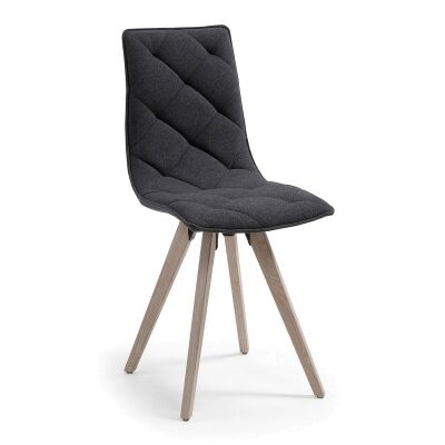 Alen Fabric Dining Chair, Charcoal