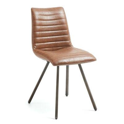 Aristida PU Leather Dining Chair, Tan