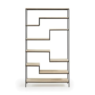 Prescott Steel & Mango Wood Display Shelf, Large, Black