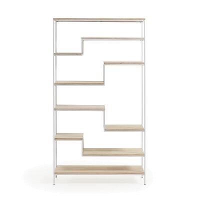 Prescott Steel & Mango Wood Display Shelf, Large, White