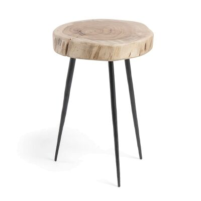 Ramona Acacia Timber Side Table, Large