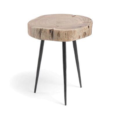 Ramona Acacia Timber Side Table, Medium