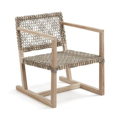 Dryden Teak Timber Lounge Armchair