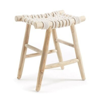 Edine Teak Timber & Cotton Rope Footrest