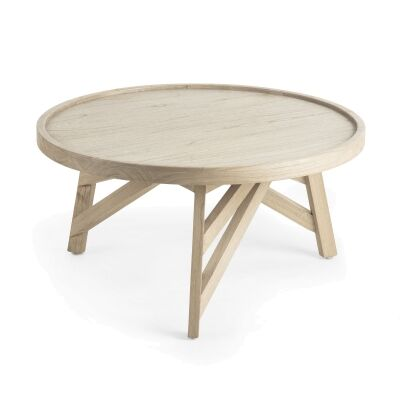 Aimee Mindi Wood Round Coffee Table, 80cm