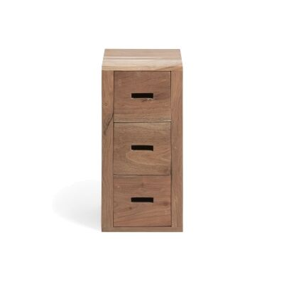 Lacey Acacia Timber 3 Drawer Slim Chest