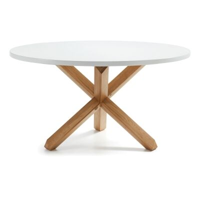 Tompion Wooden Round Dining Table, 135cm