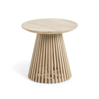 Amrit Teak Timber Round Side Table