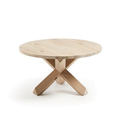 Haydon Oak Timber Round Coffee Table, Timber Top, 65cm