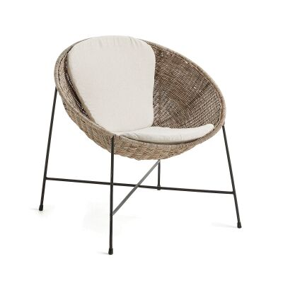 Carlton Rattan & Steel Lounge Chair