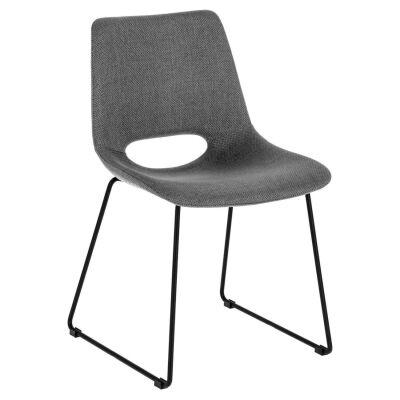 Amarco Fabric Dining Chair, Dark Grey