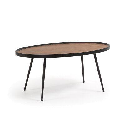 Chancery Metal Oval Coffee Table, 102cm