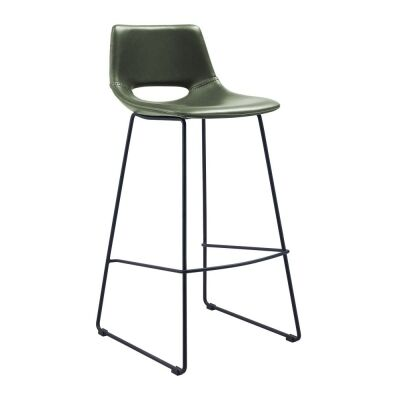 Amarco PU Leather Counter Stool, Green