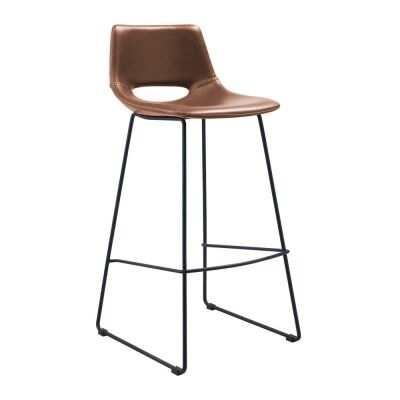 Amarco PU Leather Counter Stool, Tan