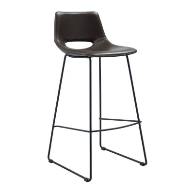 Amarco PU Leather Counter Stool, Brown