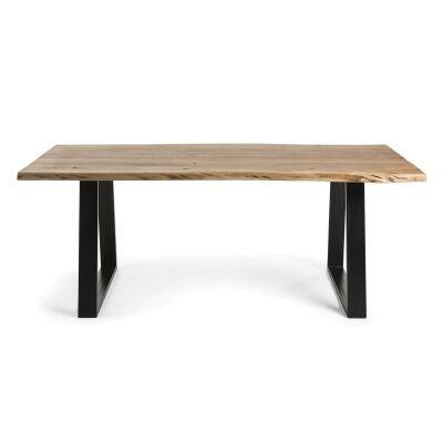 Mildura Acacia Timber & Steel Dining Table, 160cm