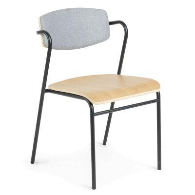 Moritz Dining Chair, Light Grey / Oak