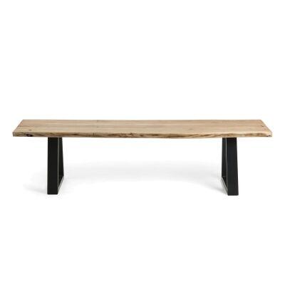Mildura Acacia Timber & Steel Dining Bench, 200cm
