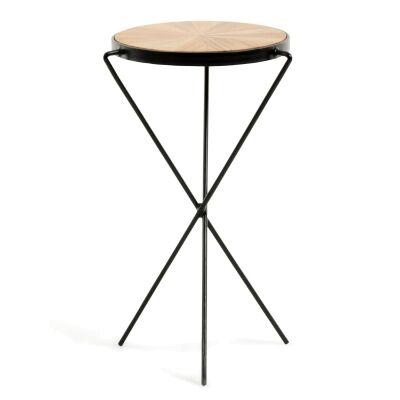 Meiji Acacia Timber Top Metal Side Table