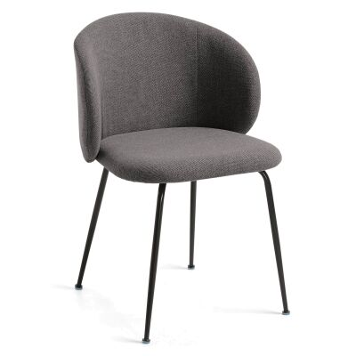 Kent Fabric Dining Chair, Dark Grey