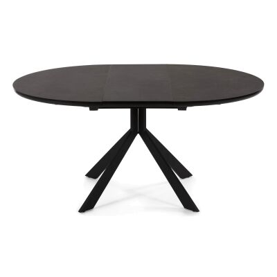 Epic Ceramic Glass Top Extendable Round / Oval Dining Table, 120-160cm