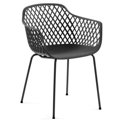 Domo Indoor / Outdoor Dining Armchair, Black