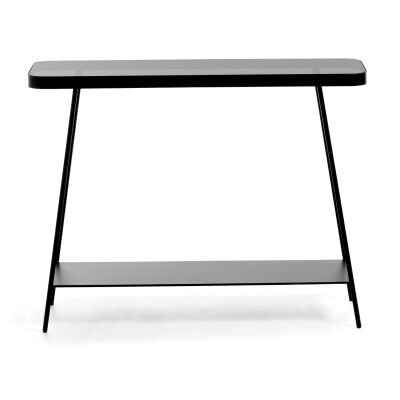 Mosedale Metal & Glass Console Table, 110cm