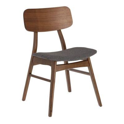 Lochy Wooden Dining Chair, Walnut / Dark Grey