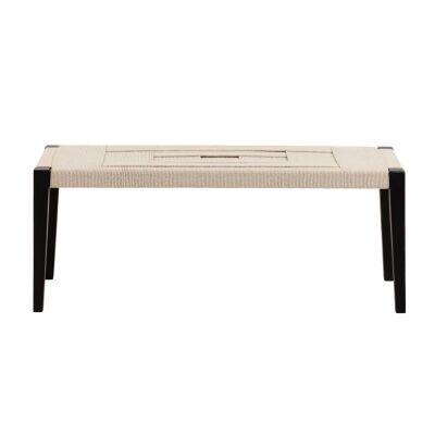 Muko Cotton Rope & Timber Bench, 120cm