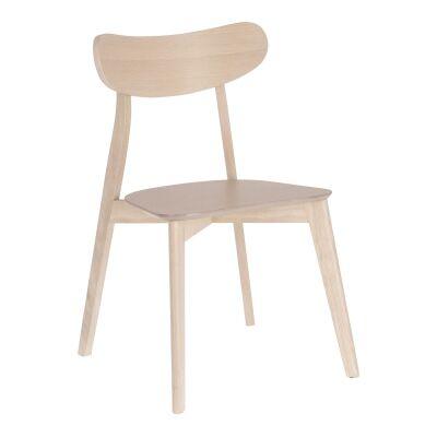 Matira Wooden Dining Chair, Latte
