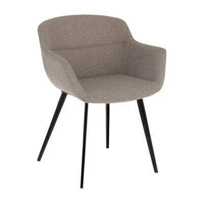 Ocaro Fabric Dining Armchair, Light Grey