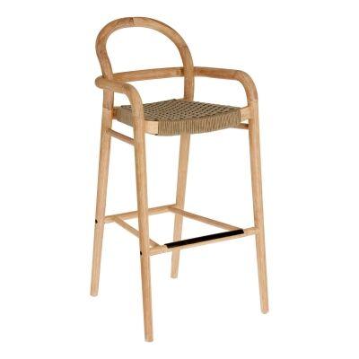 Petone Eucalyptus Timber Bar Chair, Natural / Beige
