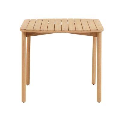 Petone Eucalyptus Timber Square Outdoor Dining Table, 90cm