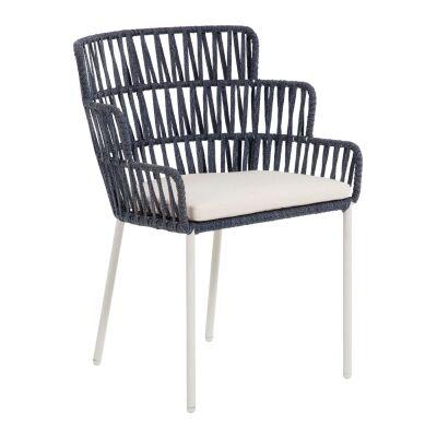 Aro Handmade Rope & Steel Alfresco Dining Chair, Navy