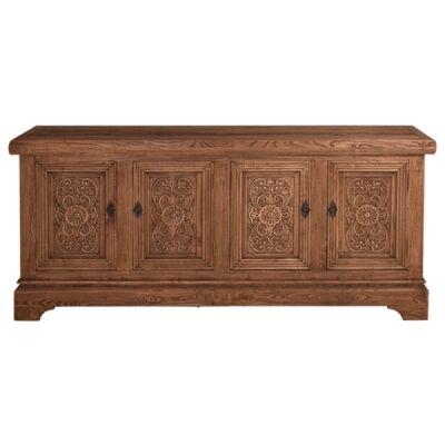 Marella Reclaimed Elm Timber 4 Door Buffet Table, 215cm