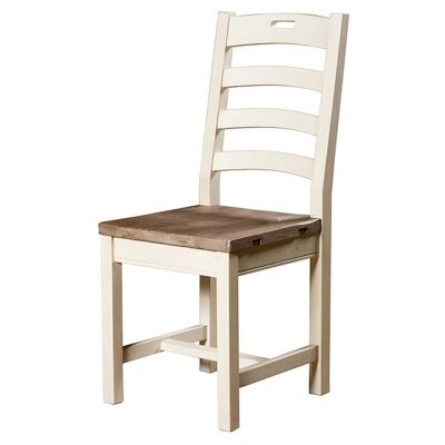 Cornwall Reclaimed Timber Dining Chair, Timber Seat