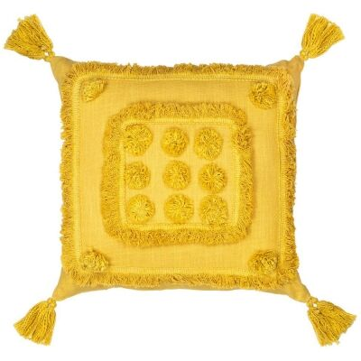 Tulare Cotton Scatter Cushion, Yellow