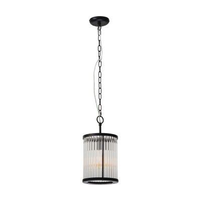 Canterbury Metal & Glass Round Pendant Light, 1 Light