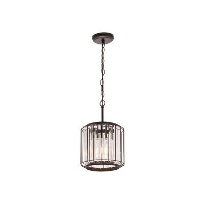 Olympia Metal & Glass Pendant Light, 1 Light