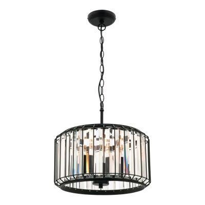 Olympia Metal & Glass Pendant Light, 3 Light