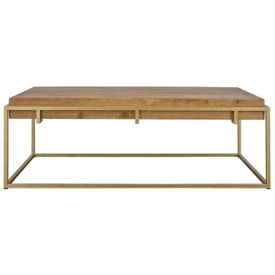 Novae Reclaimed Timber & Iron Coffee Table, 140cm