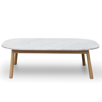Hasmark Marble Top Oval Coffee Table, 110cm