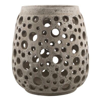 Palmira Cement Nouveau Candle Holder, Large