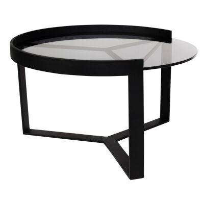 Marcel Metal & Glass Round Nesting Coffee Table, Medium