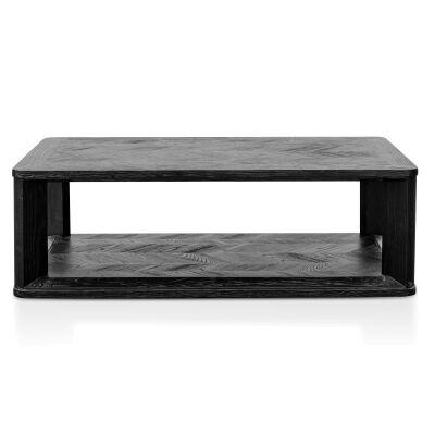 Otway Elm Timber Coffee Table, 120cm, Black