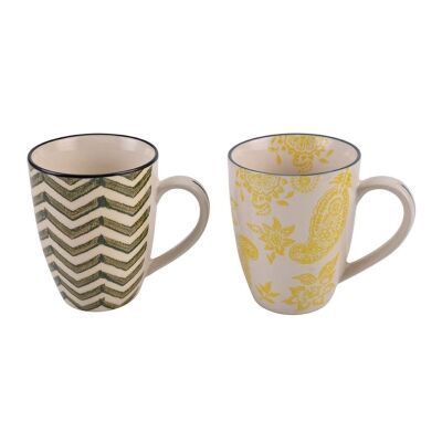 Set of 2 Stoneware Cups in Gift Box